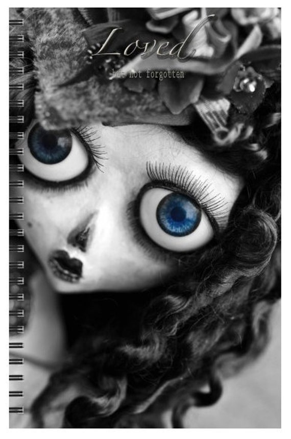ART DOLL Journal  or note book  lined pages