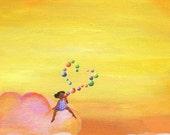 Print of Bubble Heart