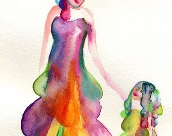 Print of Mother Daughter