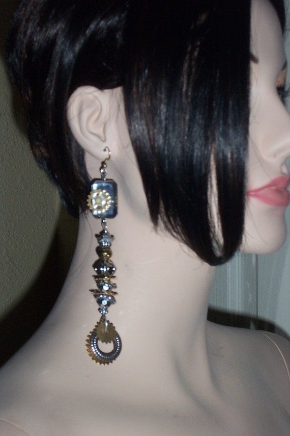 GEARS STEAMPUNK EARRINGS