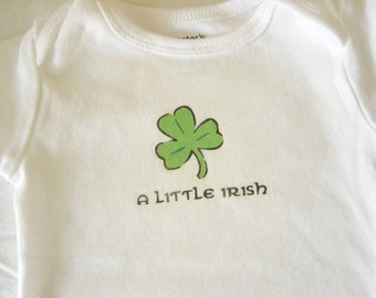 A Little Irish Baby Bodysuit (sizes newborn to 24 months)