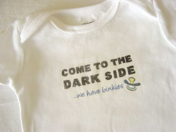 Come to the Dark Side Baby Bodysuit (sizes newborn to 24 months)