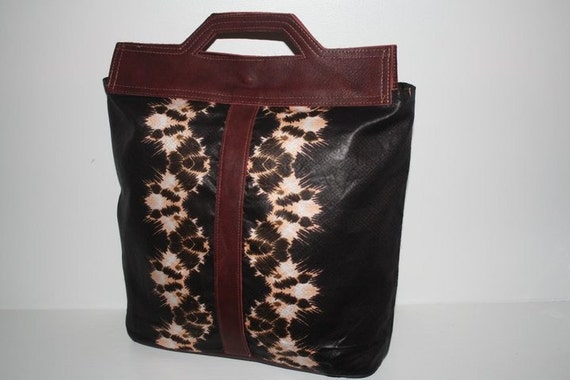 Brown Chic Tote Bazine Leather African Bag