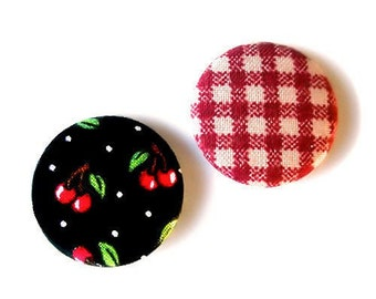 cherry gingham pins