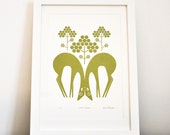 RESERVED FOR PURVIKA - Fallow Deer In Olive Green