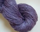 Peace Silk Lace Handspun Naturally Dyed Yarn flieder