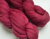 Merino Organic Lace Yarn Naturally Dyed Handdyed Red