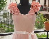Brisa Dress - Tea Length Prom Dress Blush Pink