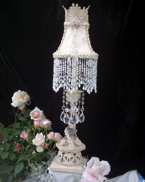 Chic Lamps: Items Similar To VICTORIAN Romantic Shabby Chic Crystal
