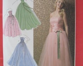 Simplicity new pattern no 3878 Jessica McClintock formal gown 50s look sz 4 6 8 10 12