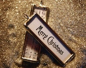 Merry Christmas-Soldered Stick Pendant