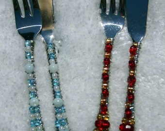 Beaded Two-Piece Appetizer Set