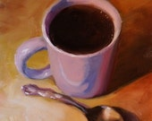 Kitchen Art Coffee Art Still Life Wall Art Room Decor Original Oil Painting for the Coffee Lover  Gift Ideas