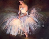 Most Popular Print Blue and Pink Ballerina Print Wall Art Room Decor from Original Oil Painting Gift Idea