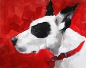 Red Dog, Great Dane, Big Dog Original Painting by Clair Hartmann