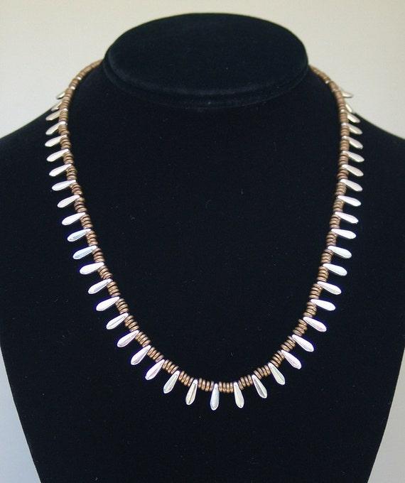 Egyptian Collar Necklace - Silver Daggers