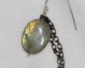Labradorite and Chain Earrings