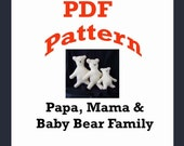 Three Bears Family Patterns in PDF