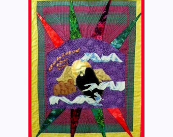 Behind the Veil - An Art Quilt