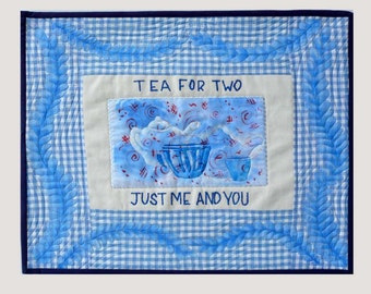 Tea for Two Art Quilt