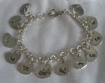 Kitty Kisses Bracelet - Silver - Featured Treasury Item!