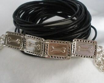 Dog Bone Bracelet - Silver