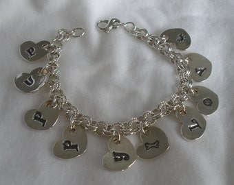 Puppy Love Bracelet - Silver - Featured Treasury Item