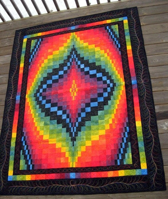 Quilt In A Day Patterns Trip Around The World : Bargello Trip Around the World Quilt