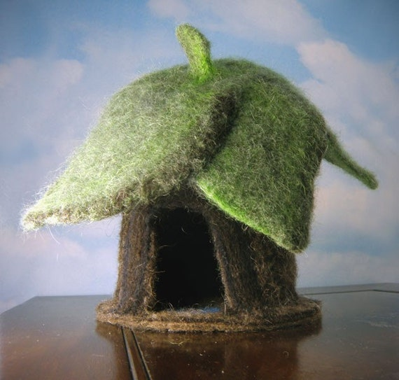 Woodland Home Incredible Needle Felted Gnome Or Fairy House