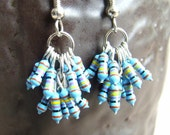 Bunches of Blue Resistor Earrings