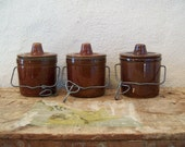 Old Cheese Pots, Lidded Pottery Jar Collection