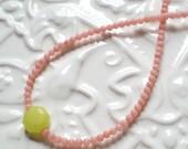 Pink Coral Simplicity Necklace