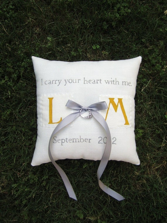 Double sided Ring Bearer Pillow- Personalized and Customizable