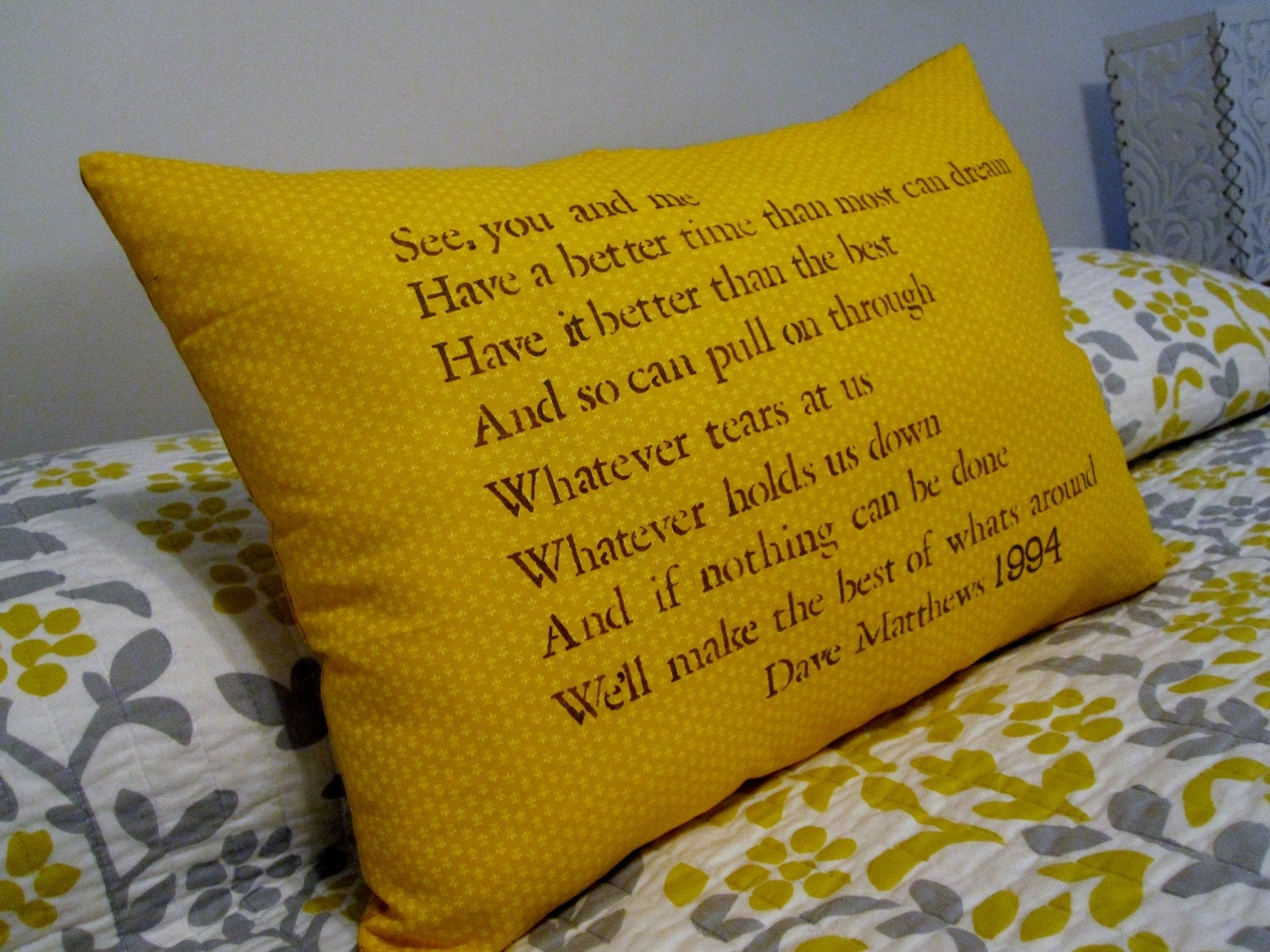 Customizeable Lyric Pillow Dave Matthews The Best Of Whats