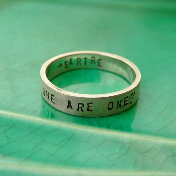 promise ring message ring with personalized text custom