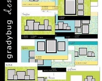 WALL DISPLAY Templates - SET 1 - for Photographers - Wall Design Ideas