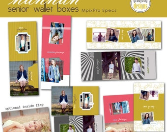 Hannah Senior Wallet Boxes - HANNAH SENIOR COLLECTION - Templates for Photographers