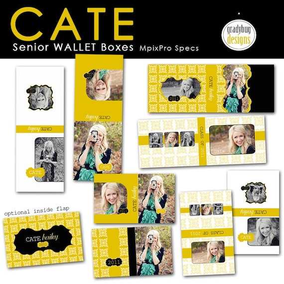 Cate Senior Wallet Boxes - CATE SENIOR COLLECTION - Templates for Photographers