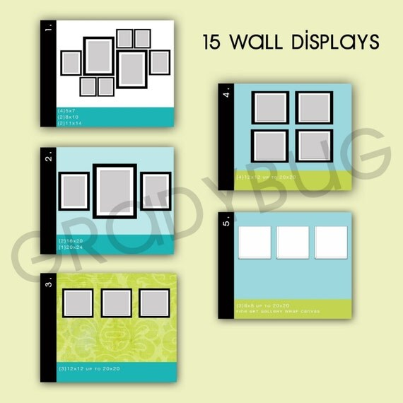 Wall display templates for photographers by gradybugdesigns - Photo wall display template ...