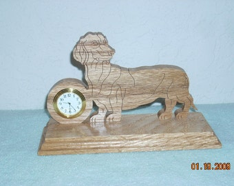 Dachshund desk clock