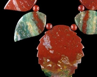 Gemstone Pendant Bead AGATE Colorful Eleven Piece Stone Set MGS600P