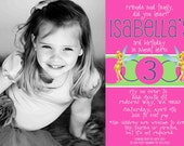 Flutterific Tinkerbell Birthday Invite - 5X7 printable invitation