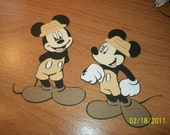 Safari mickey mouse die cuts-set of 2