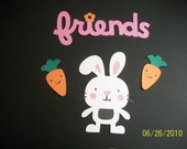 Rabbit, carrots and friends title diecuts