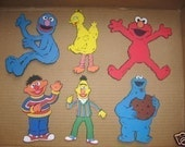 grover, big bird, elmo, cookie monster, bert and ernie  DIECUTS-cricut