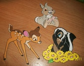 Bambi, Thumper and Flower die cuts