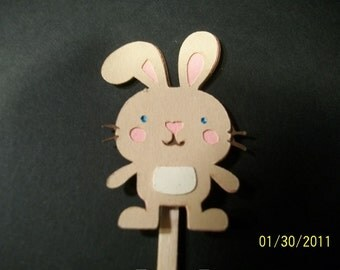 Bunny rabbit cupcake toppers- set of 24