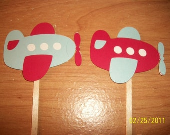 Plane cupcake toppers- set of 12