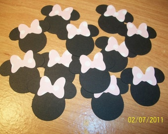 Minnie mouse shapes with bows