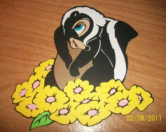 Flower the skunk die cut- from bambi